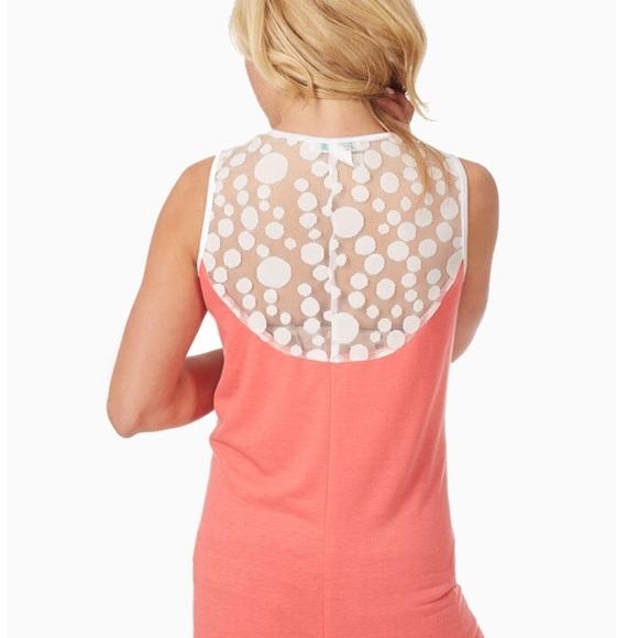 012a2f81f75bc Pinkblush Tops | New Pink Blush Maternity Tank Tunic M Coral Lace ...